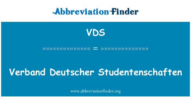 VDS: Verband Deutscher Studentenschaften