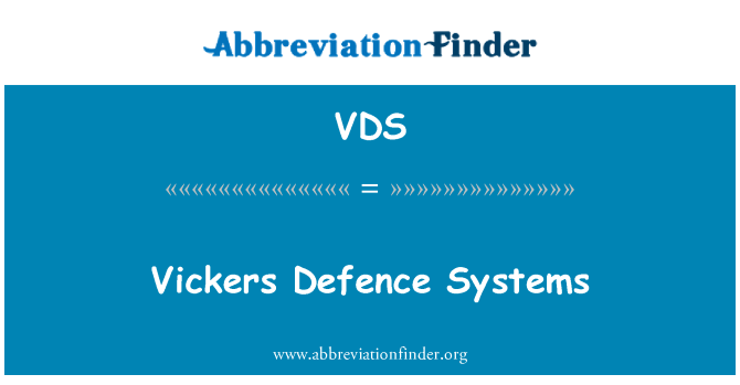 VDS: Vickers Defence Systems
