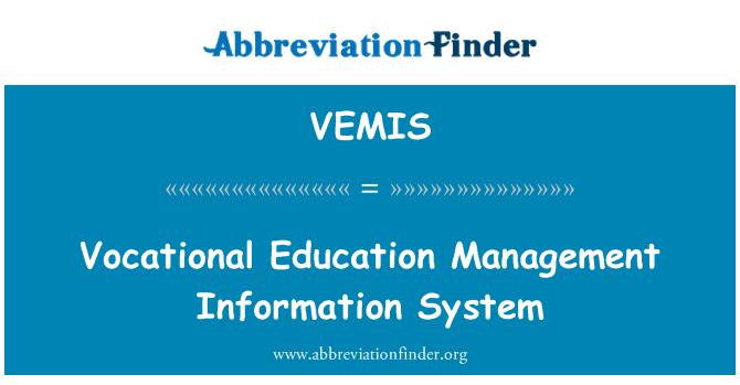 VEMIS: Vocational Education Management Information System