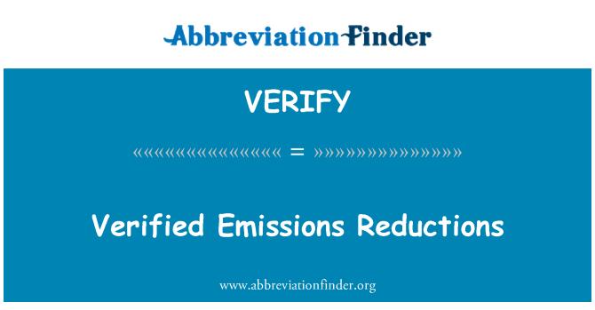 VERIFY: Tõendatud heitkoguste vähendamise