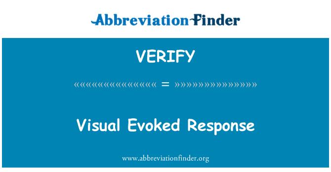 VERIFY: Visuelle Evoked respons