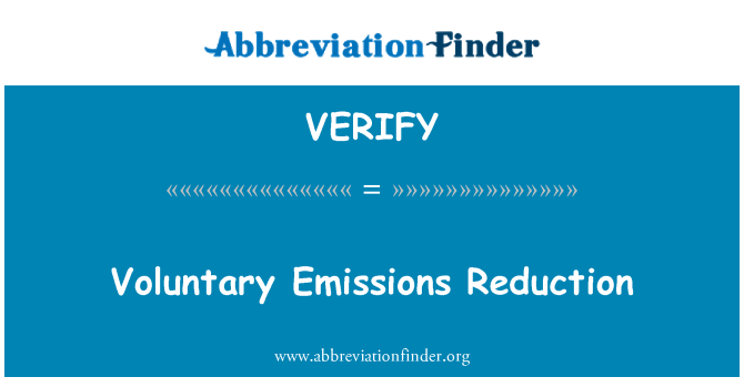 VERIFY: Önkéntes kibocsátás-csökkentés