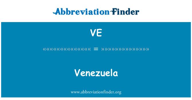 VE: 委内瑞拉