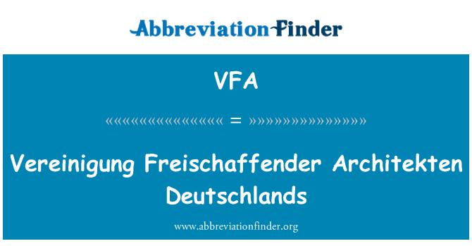 VFA: Vereinigung Freischaffender Architekten Deutschlands