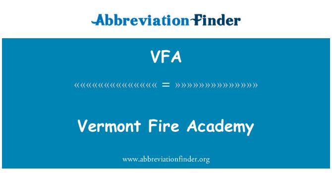 VFA: 佛蒙特州消防学院