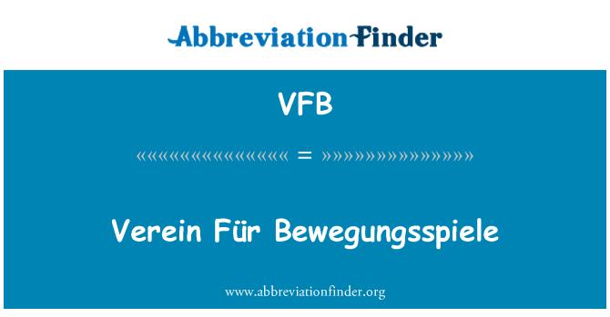 VFB: Verein Für Bewegungsspiele
