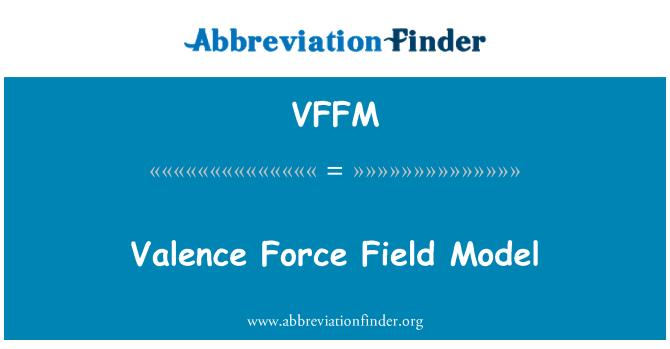 VFFM: Valence Force Field Model