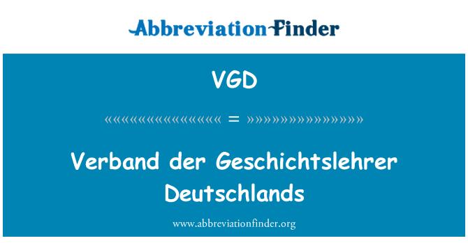 VGD: Verband der Geschichtslehrer Deutschlands