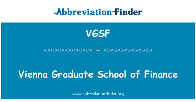 VGSF: Vienna Graduate School of Finance