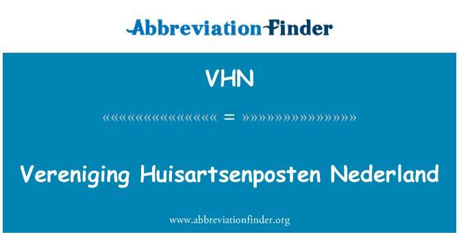 VHN: Vereniging Huisartsenposten Nederland