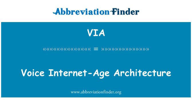 VIA: Voice Internet-Age Architecture