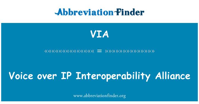 VIA: 语音 IP 互操作性联盟