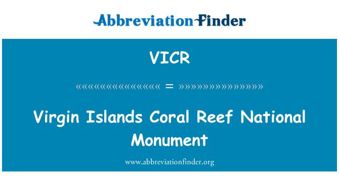 VICR: Monumento Nacional de los arrecifes de Coral de las Islas Vírgenes