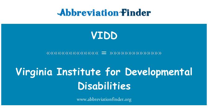 VIDD: Virginia Institute for Developmental Disabilities