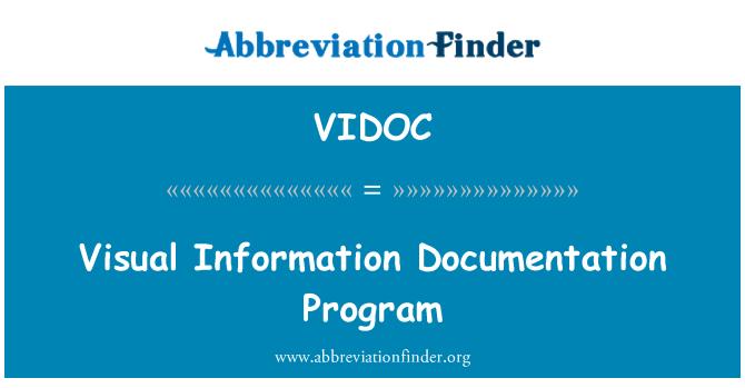 VIDOC: Programa de documentación de información visual