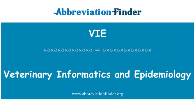 VIE: Veterinary Informatics and Epidemiology