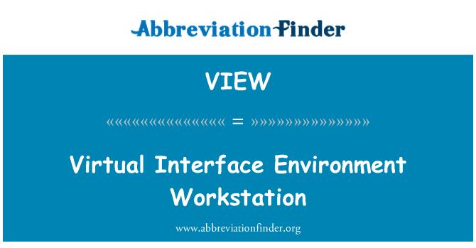 VIEW: Stesen kerja persekitaran antaramuka maya