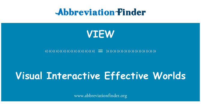 VIEW: Visuaalne interaktiivne tõhus maailmad
