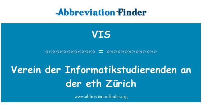 VIS: Verein der Informatikstudierenden an der eth Zürich