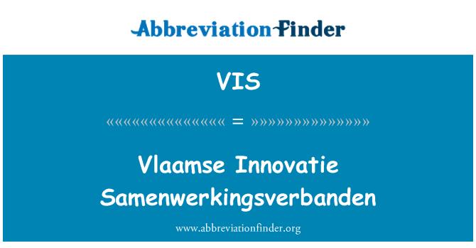 VIS: Vlaamse Innovatie Samenwerkingsverbanden