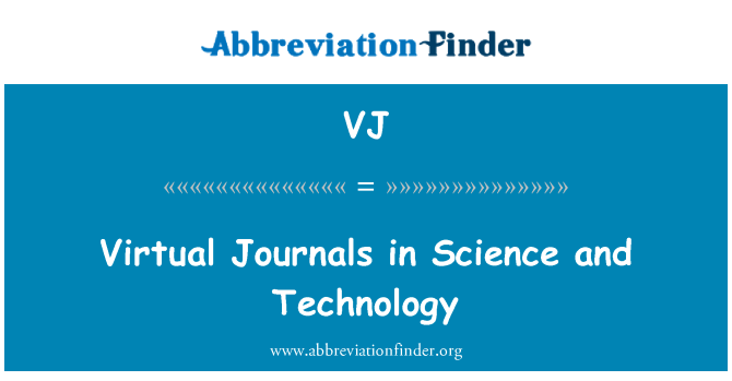 VJ: Virtual Journals in Science and Technology