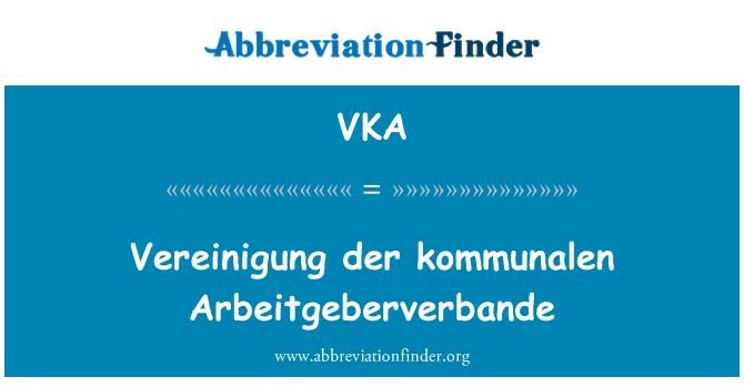 VKA: Vereinigung der kommunalen Arbeitgeberverbande