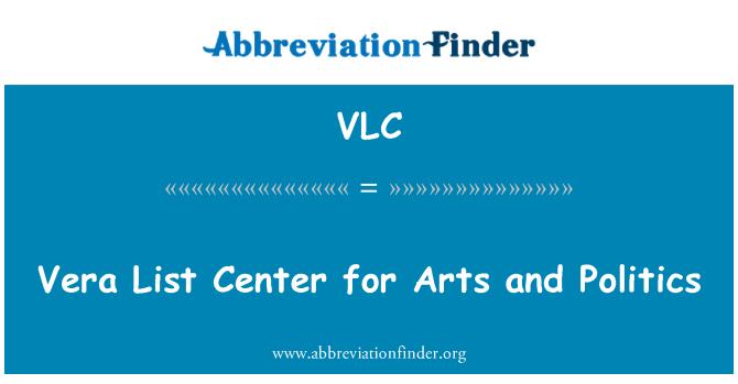 VLC: Vera List Center for Arts and Politics