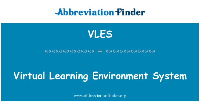 VLES: Virtual Learning Environment System