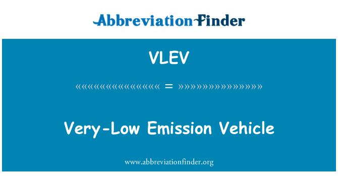VLEV: Very-Low Emission Vehicle