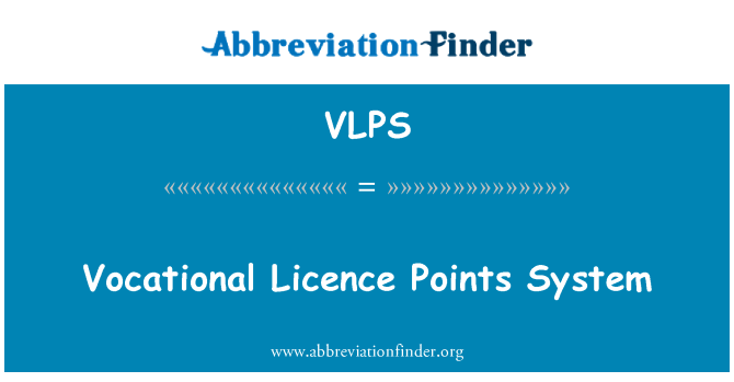 VLPS: Kutsehariduse litsentsi punktide süsteemi