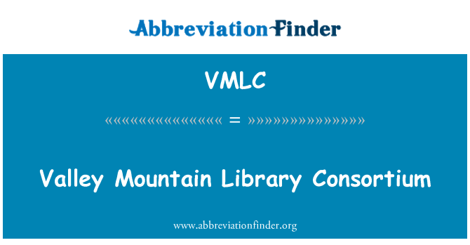 VMLC: Valley Mountain Library Consortium