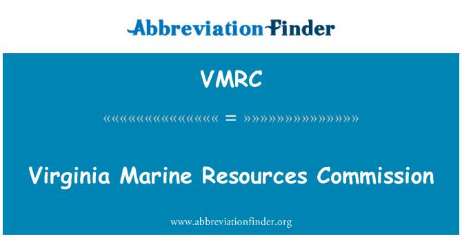 VMRC: Virginia Marine Resources Commission