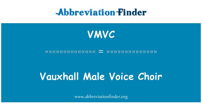 VMVC: Vauxhall Male Voice Choir