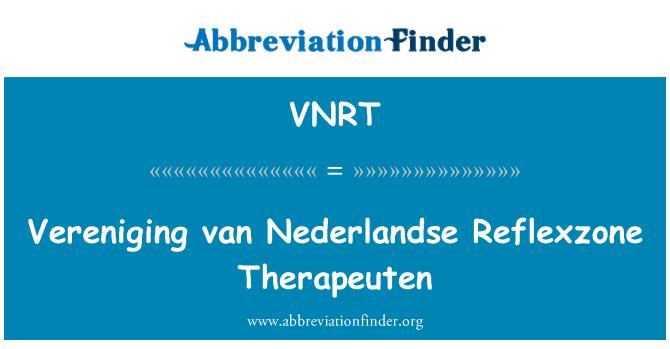 VNRT: 芬范荷兰 Reflexzone Therapeuten