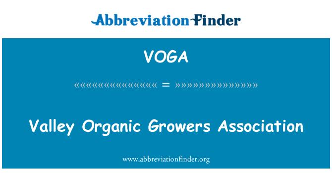 VOGA: Asociación de productores orgánicos del valle
