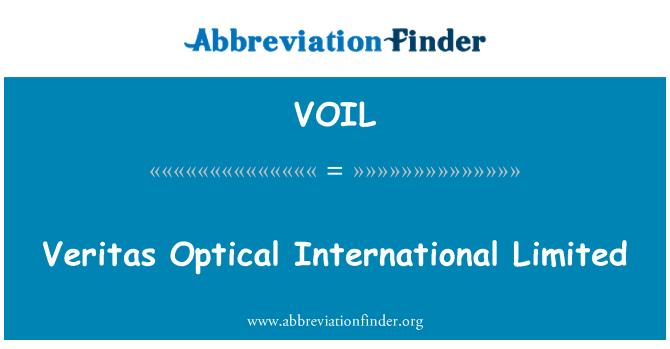 VOIL: Veritas Optical International Limited