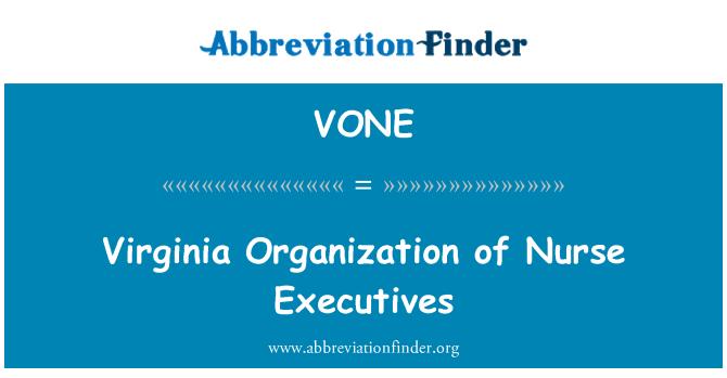 VONE: Hemşire yöneticileri Virginia organizasyonu