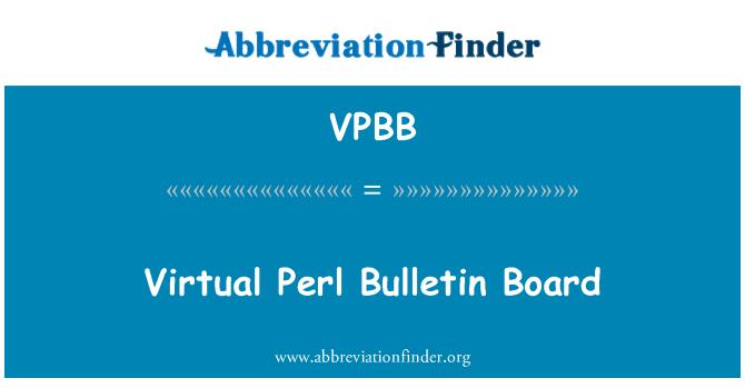 VPBB: Virtual Perl Bulletin Board