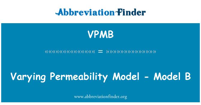 VPMB: Variando la permeabilidad - modelo B
