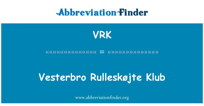 VRK: Vesterbro Rulleskøjte Klub
