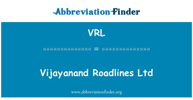 VRL: Vijayanand Roadlines Ltd