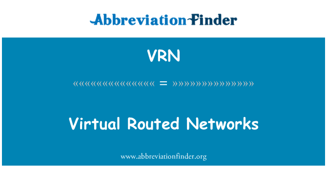 VRN: Virtual Routed Networks