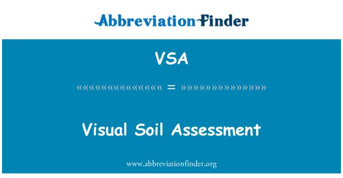 VSA: Visual Soil Assessment