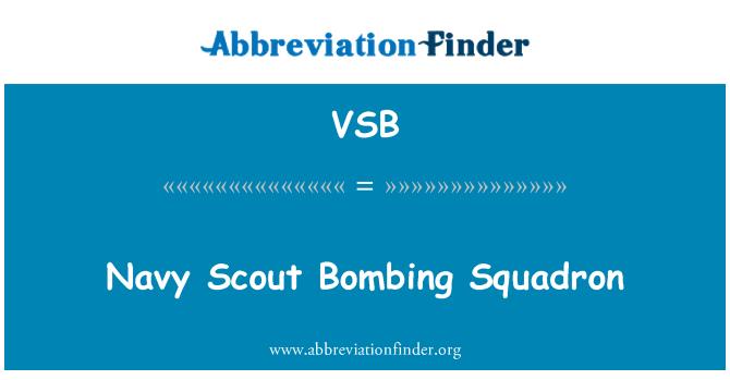 VSB: Escuadrón de bombardeo Scout marino