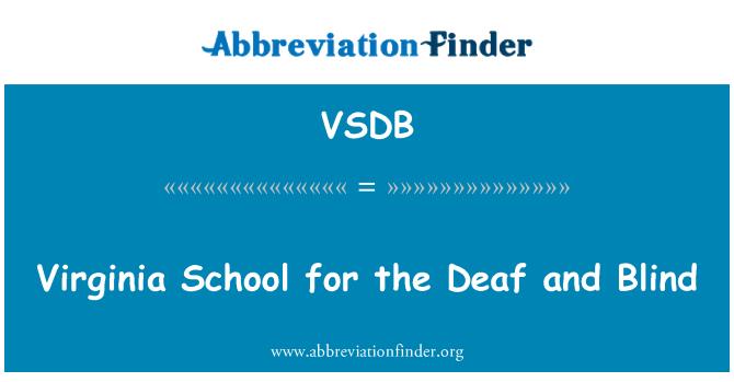 VSDB: Virginia School for the Deaf and Blind