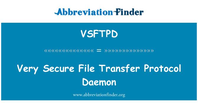 VSFTPD: Very Secure File Transfer Protocol Daemon
