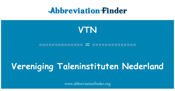 VTN: Vereniging Taleninstituten Nederland