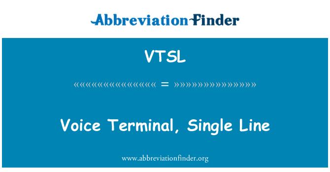 VTSL: Voice Terminal, Single Line