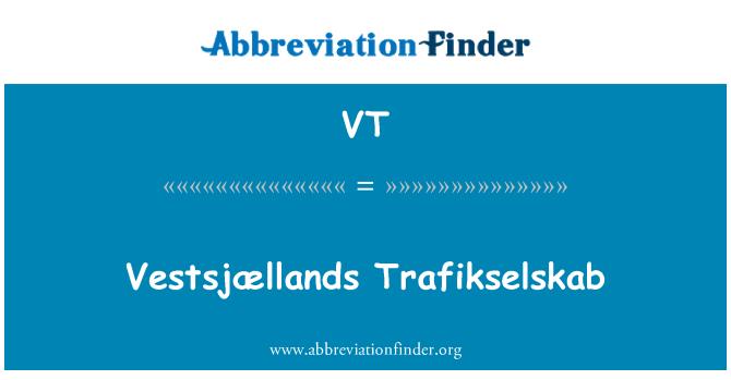 VT: Vestsjællands Trafikselskab