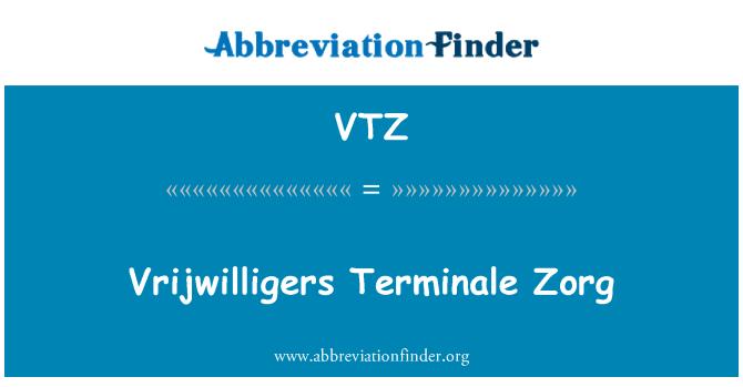 VTZ: Vrijwilligers Terminale Zorg